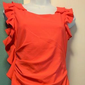 Esley Salmon Summer Dress Size 4